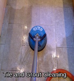 Cleaning ceramic tiles and grout lines in Sudbury
