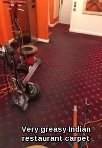 Greasy restaurant carpets